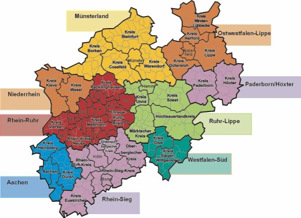GermanTravelInfo Home Of Information For Traveling In Germany - Germany map nrw